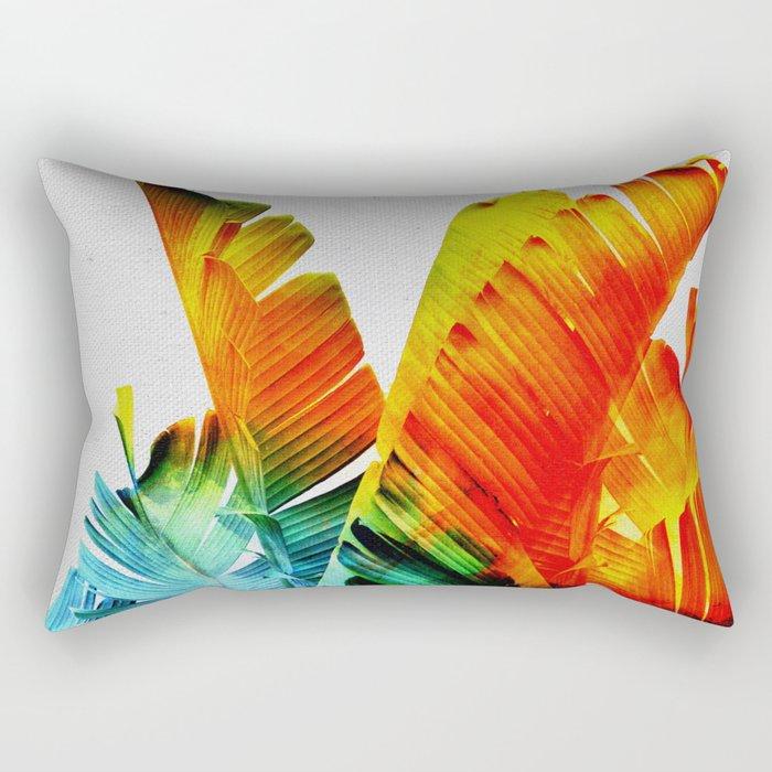 Enchanted Banana Leaves Rectangular Pillow