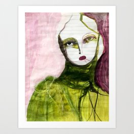 Portrait Lines Art Print