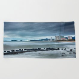 Morning Skyline Nha Trang Vietnam Beach Towel