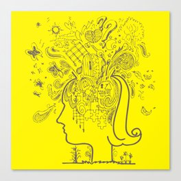 Over Thinking Over and Over Canvas Print