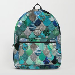 Mermaid Pattern, Sea,Teal, Mint, Aqua, Blue Backpack
