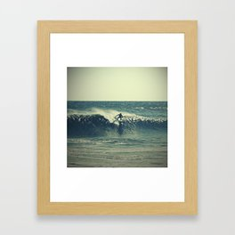 Wave Rider Framed Art Print