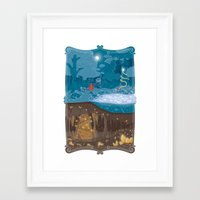 fairytale Framed Art Prints featuring Fairytale by Squid