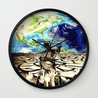 equality Wall Clocks featuring Equality by Kiki collagist