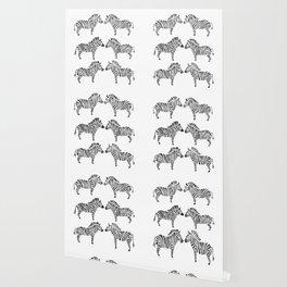 Zebras – Black & White Palette Wallpaper