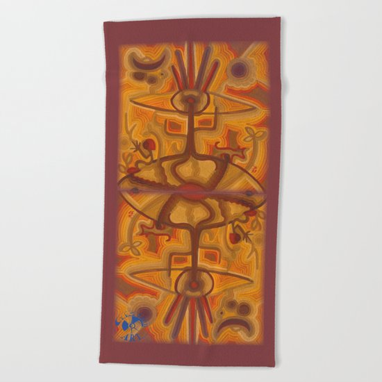 Together in God's Eye Beach Towel