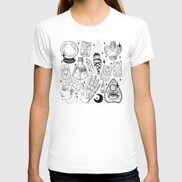 Fortune Teller Starter Pack Black and White T-shirt