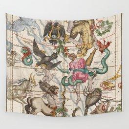 Vintage Constellation Map - Star Atlas - Sagittarious - Scorpio Wall Tapestry