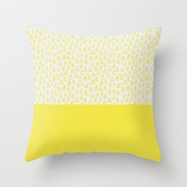 Triangles yellow Throw Pillow