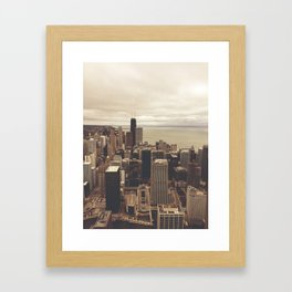 Chicago City Buildings Color Photo Architecture Framed Art Print