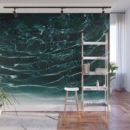 Dark Night Teal Ocean Dream #1 #water #decor #art #society6 Wall Mural