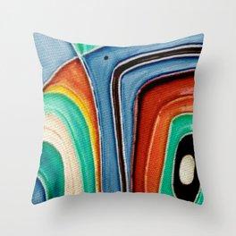 The Kandinsky's Chubby Bird 1 Throw Pillow