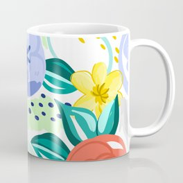 Flowers red pattern Coffee Mug