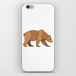 Shapely Brown Bear iPhone Skin