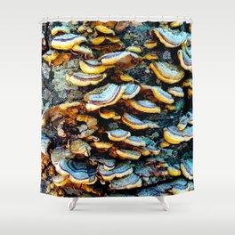 Tree Fungi Pattern Shower Curtain
