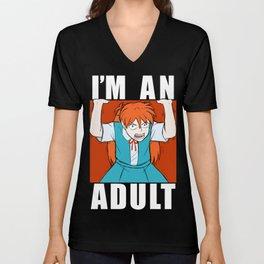 ASUKA THREW IT ON THE GROUND: I'M AN ADULT Unisex V-Neck