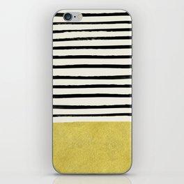 Gold x Stripes iPhone Skin