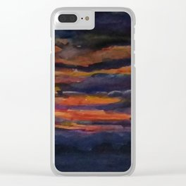 Night is falling Clear iPhone Case