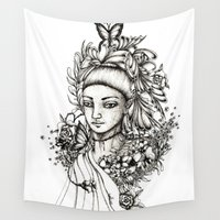 fairy Wall Tapestries featuring Fairy by Anca Chelaru