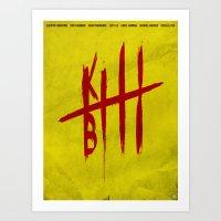kill bill Art Prints featuring Kill Bill by Guillaume Vasseur