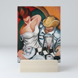 Coffee for two. Miguez Art Mini Art Print