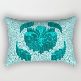 Florentine Teal Garden Rectangular Pillow