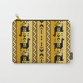 Llamas_Mustard Carry-All Pouch
