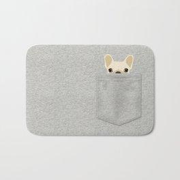 Pocket French Bulldog - Cream Bath Mat