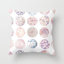 Microbe Collection Throw Pillow
