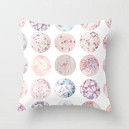 Microbe Collection Throw Pillow