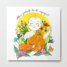 The Buddhist Monk Metal Print