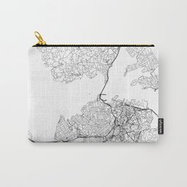 Auckland White Map Carry-All Pouch