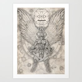 Archangel Raguel Art Print