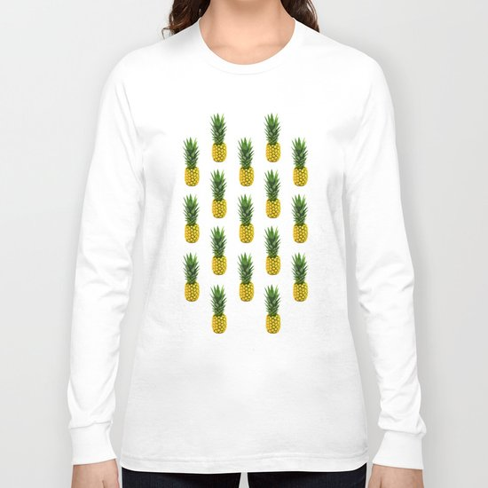 Pineapple Pattern Long Sleeve T-shirt