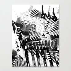 GRAY AND BLACK Canvas Print