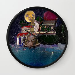 Full Moon Castle Wall Clock