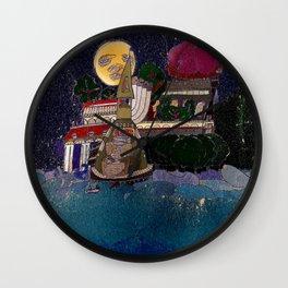 Full Moon Castle Wall Clock
