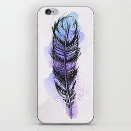 AP089 Watercolor feather iPhone Skin
