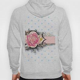 Pastel,polka dots and roses Hoody