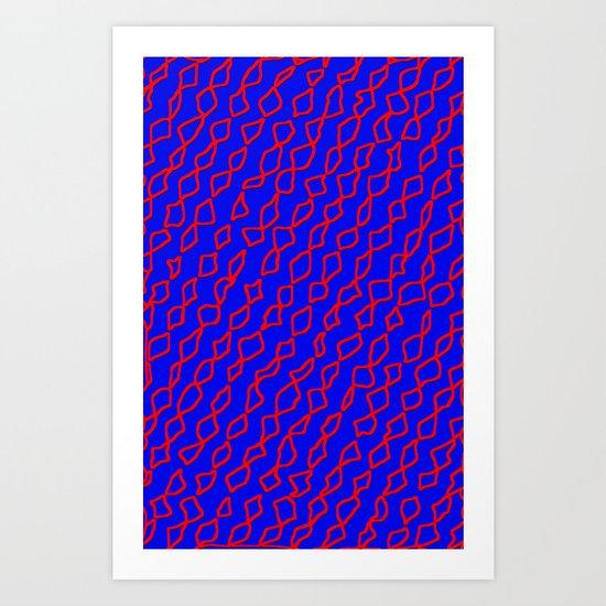 Blue/Red Art Print