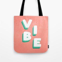Vibe Retro Vintage Typography Tote Bag