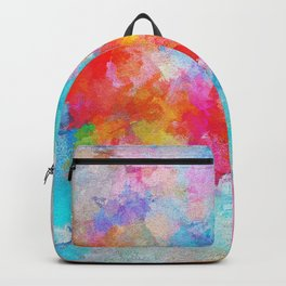Cloudy Abstract Painting- Colorful Art Backpack