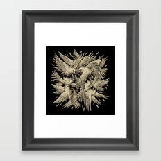 Birdfight Framed Art Print