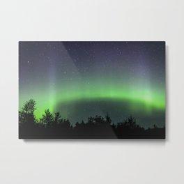 A Ribbon of Green Aurora Borealis Metal Print