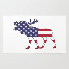 """Moose """"American Flag"""" Rug"""