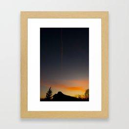 Vapor Trail Framed Art Print