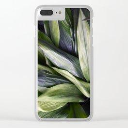 Green Jungle Clear iPhone Case