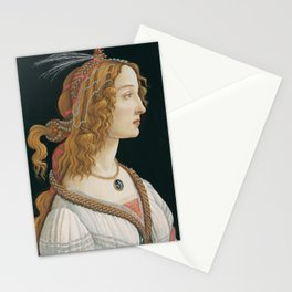 "Sandro Botticelli ""Idealized Portrait of a Lady (Portrait of Simonetta Vespucci as Nymph)"" Stationery Cards"