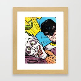Detective vs. the Clown Framed Art Print