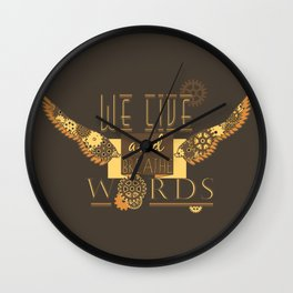 Cassandra Clare - We Live And Breathe Words Wall Clock